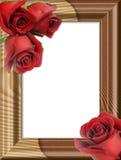 木结构的玫瑰 免版税图库摄影