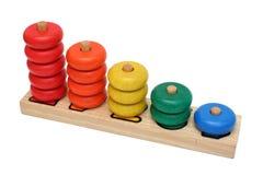木编号的玩具 免版税图库摄影