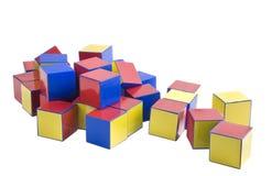 木编译的色的玩具 库存照片