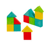 木美丽的房子的玩具 免版税库存照片