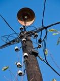 木老杆的通信机 库存照片