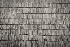 木老的屋顶 免版税库存照片