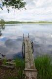 木老的码头 库存照片