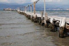 木老的码头 库存图片