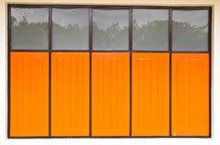 木老的视窗 免版税库存照片