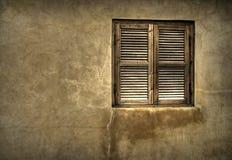 木老的视窗 免版税图库摄影