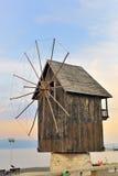 木老的风车 库存照片