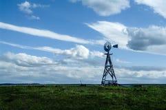 木老的风车 图库摄影