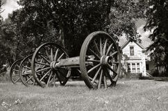 木老的马车车轮 库存图片