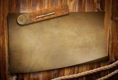 木老纸绳索统治者的表 库存照片