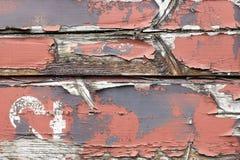 木老被绘的板条 免版税库存照片