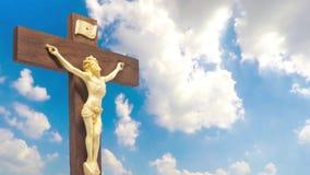 木耶稣受难象基督的身体十字架的 股票录像