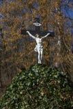 木耶稣受难象 库存照片