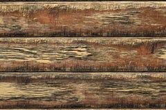 木背景、老年迈的木板条、被风化的地板或者墙壁 图库摄影