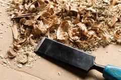 木背景的削片 库存图片