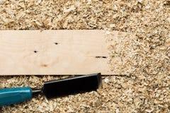木背景的削片 免版税图库摄影