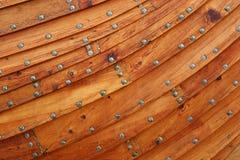 木背景的小船 图库摄影