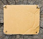 木背景的纸板 免版税库存照片