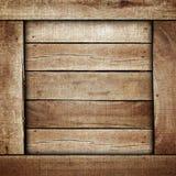 木背景的配件箱 免版税库存图片