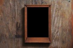 木背景空的框架 免版税库存照片