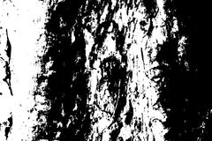 木脏的纹理 困厄的木材黑白纹理 概略的树皮表面 库存例证