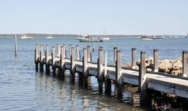 木船坞在Mandurah,西澳州 免版税图库摄影