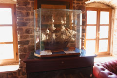 木船模特写镜头照片在博物馆的 免版税库存照片