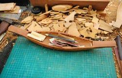 木船模 免版税库存图片