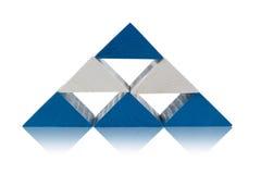 木色的编译的金字塔 免版税库存图片