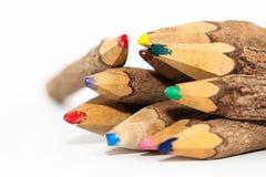 木色的铅笔 免版税图库摄影