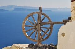 木艺术品的轮子 免版税库存图片