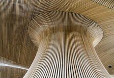 木艺术的屋顶 免版税库存照片