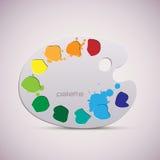 木艺术调色板。 彩色插图。 免版税库存照片