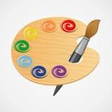木艺术调色板。 免版税库存图片