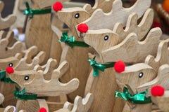 木节假日驯鹿玩具 库存照片