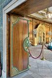 木花卉王子` s母亲,默罕默德阿里,开罗,埃及王子Manial宫殿样式华丽门显露的住所  免版税库存图片