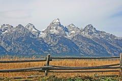 木范围和Teton范围 免版税图库摄影