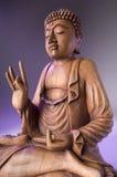 木菩萨的雕象 免版税库存图片