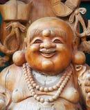 木菩萨的雕象 图库摄影