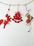 木葡萄酒圣诞节装饰 图库摄影