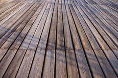 木蓝色码头海运的星期日 图库摄影