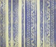 木蓝色被雕刻的花卉的数据条 免版税库存图片