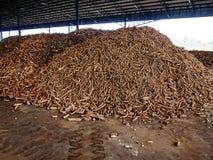 木薯堆 库存图片