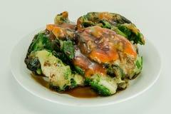 木薯淀粉被包裹的菜 免版税库存图片