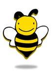木蜂,蜂图标 免版税库存图片