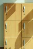 木衣物柜 库存图片
