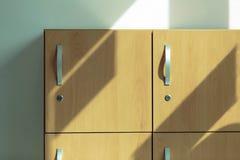 木衣物柜 免版税库存图片