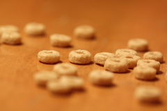 木表面上的谷物 免版税库存图片