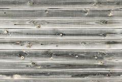 木衬里上墙壁 白色,灰色木纹理 背景老盘区,无缝的样式 水平的板条 免版税库存图片
