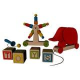 木被分类的玩具 免版税库存照片